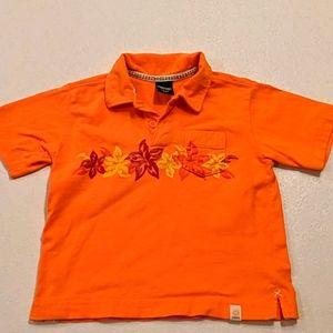 OSHKOSH orange polo shirt